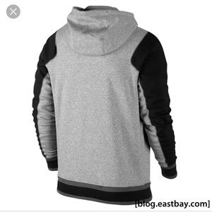 72e1c069e513 Jordan Shirts - Jordan varsity hoodie 2.0 heather gray and black